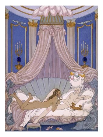 Scene from 'Les Liaisons Dangereuses' by Pierre Chodlerlos De Laclos Giclee Print by Georges Barbier
