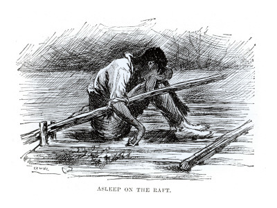 the life on the raft in the adventures of huckleberry finn The adventures of huckleberry finn by mark twain  —author's note from the adventures of  he desires to flee his life, living on a raft,.