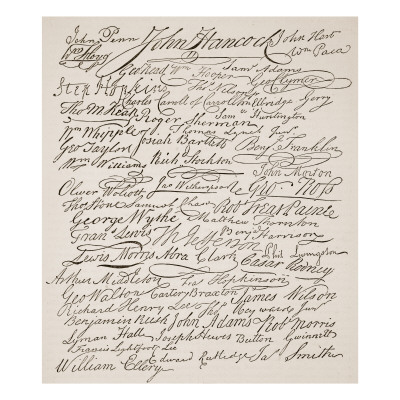 declaration of independence signatures. Signatures to the Declaration