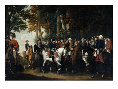 King Frederick Ii's Return from Preussen Von Manoever, C.1785 Premium Giclee Print by  German School