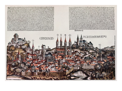The City of Bamberg, from the 'Liber Chronicarum', by Hartmann Schedel, 1493 Premium Giclee Print by  German School