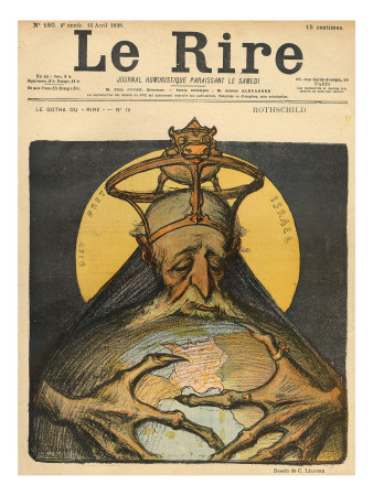 Caricature of the Rothschild Family, from the Front Cover of 'Le Rire', 16th April 1898 Premium Giclee Print by Charles Leandre