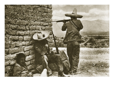 Rebel Snipers Attacking the City of Juarez, 10th May 1911 Gicleetryck