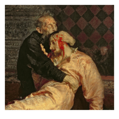 Ivan the Terrible and His Son on the 16th November, 1581, 1885 Giclee Print by Ilya Efimovich Repin