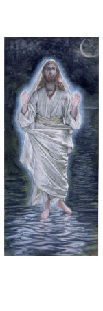 Christ Walking in the Sea, Illustration for 'The Life of Christ', C.1886-94 Giclee Print by James Tissot