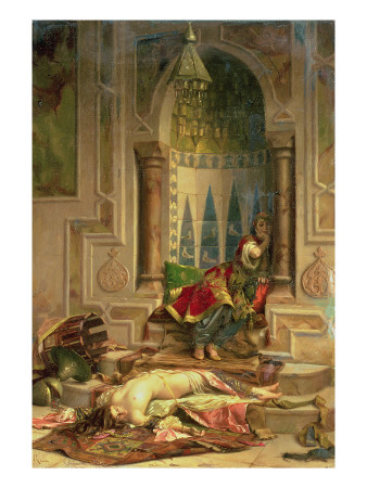 Ah! Jealous Amongst the Jealous!' Premium Giclee Print by Theodore Jacques Ralli