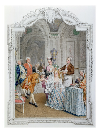 The Toilette, Illustration from 'La Vie Parisienne', C.1890 Premium Giclee Print by Maurice Leloir