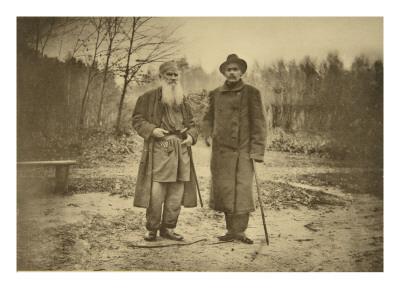 Leo Tolstoy and the Author Maxim Gorky Premium Giclee Print by Sophia Andreevna Tolstaya