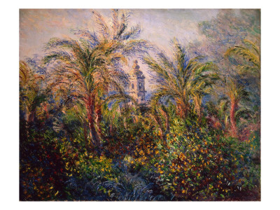 Garden in Bordighera, Impression of Morning, 1884 Premium Giclee Print by Claude Monet