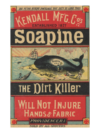 Poster Advertising Kendall Mfg. Co's 'soapine', C.1890 Premium Giclee Print by  American School