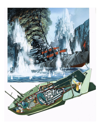 The Mighty Midgets, the Story of the Submarine, 1981 Giclee Print