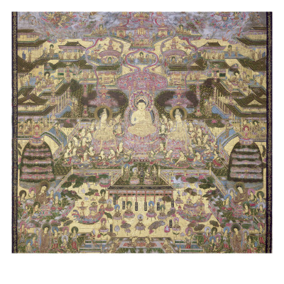 Depiction of Spiritual and Material Worlds Giclee Print by  Japanese School
