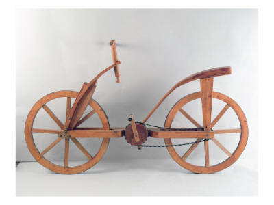 Reconstruction of Da Vinci's Design for a Bicycle Lámina giclée