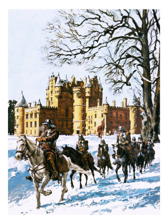 Glamis Castle Occupied by the Roundheads Premium Giclee Print by  Green