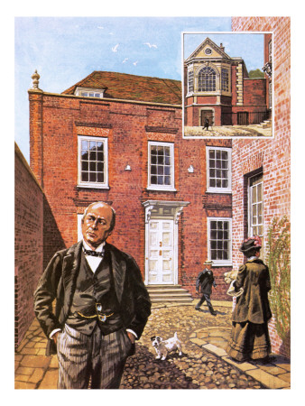 Henry James Standing Outside Lamb House in Sussex Premium Giclee Print by  Green