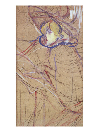 Profile of a Woman: Jane Avril, 1893 reproduction procédé giclée