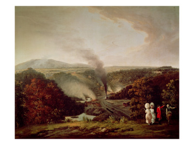 Afternoon View of Coalbrookdale, 1777 Premium Giclee Print by William Williams