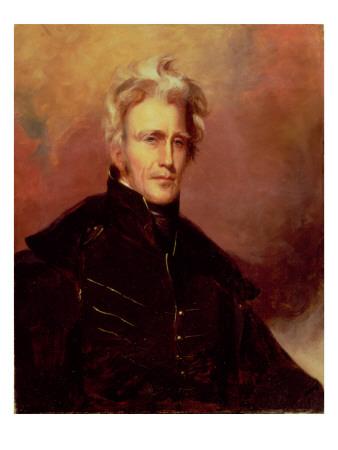 Portrait of Andrew Jackson, 1858 Premium Giclee Print by Thomas Sully