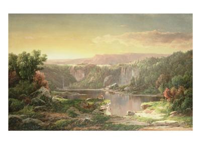 Mountain Lake Near Piedmont, Maryland Premium Giclee Print by William Louis Sonntag