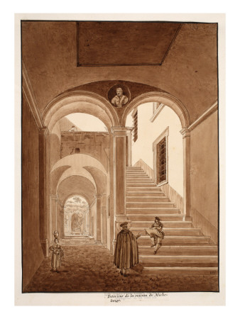 Interior of Michelangelo's House, 1833 Giclee Print