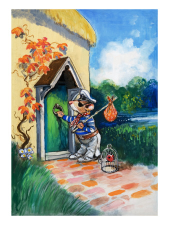 The Town Mouse and the Country Mouse Giclee Print