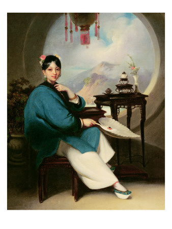 Portrait of a Young Eurasian Lady Giclee Print by George Chinnery
