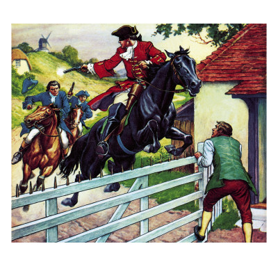 Dick Turpin's Ride to York on His Horse Black Bess Giclee Print by Ronald Simmons