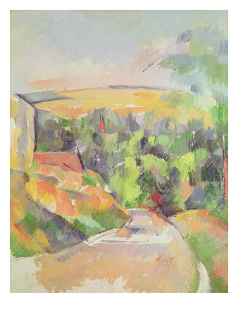 The Bend in the Road, 1900-06 Premium Giclee Print by Paul Cézanne