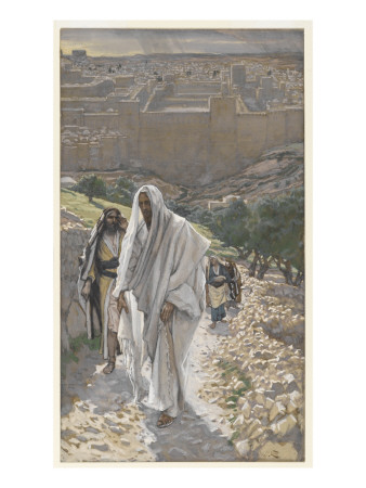 Jesus Goes in the Evening to Bethany Premium Giclee Print by James Tissot