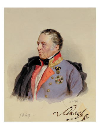 Johann Joseph Wenzel, Count Radetzky Premium Giclee Print by Josef Nikolaus Kriehuber