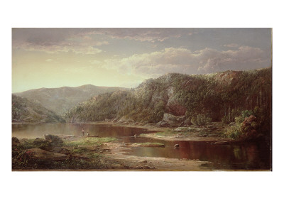 On the Shenandoah, C.1860 Premium Giclee Print by William Louis Sonntag