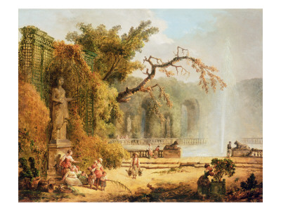 Romantic Garden Scene reproduction procédé giclée