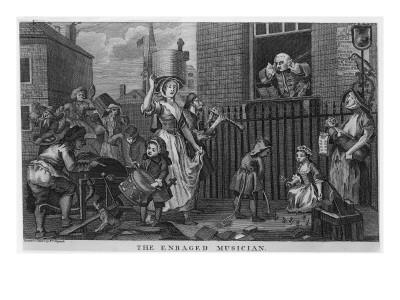 The Enraged Musician Premium Giclee Print by William Hogarth
