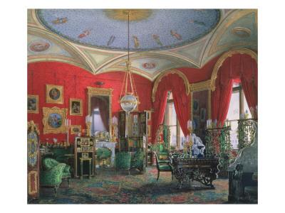 Interior of the Winter Palace Premium Giclee Print by Eduard Hau