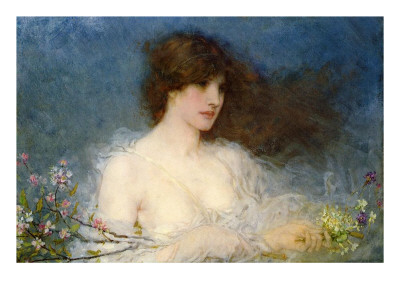 A Spring Idyll, 1901 Premium Giclee Print by George Henry Boughton