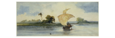 A Craft on an Indian River Giclee Print by George Chinnery