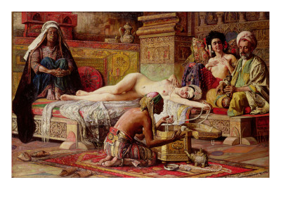 The Favourite of the Harem Premium Giclee Print by Gyula Tornai