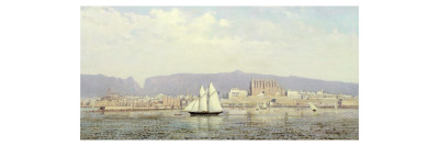 View of the Harbour, Palma Giclee Print by Ricardo Ankermann y Riera