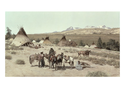 Indian Encampment, 1892 Giclee Print