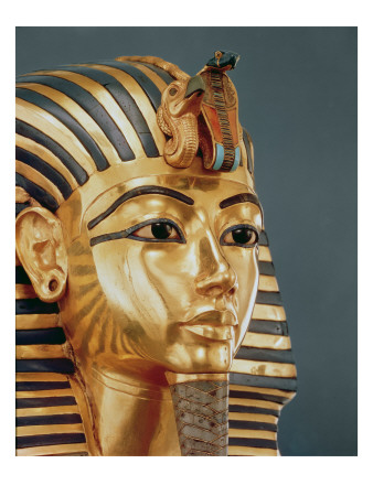 The Funerary Mask of Tutankhamun Premium Giclee Print by  Egyptian 18th Dynasty