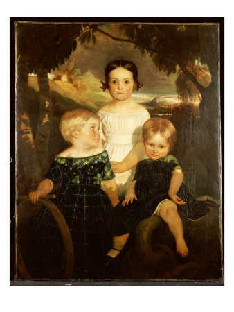 The Bromley Children, 1843 Giclee Print