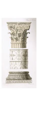 Column and Capital Giclee Print