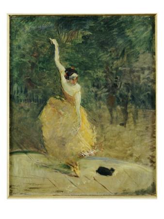 The Spanish Dancer, 1888 Premium Giclee Print by Henri de Toulouse-Lautrec