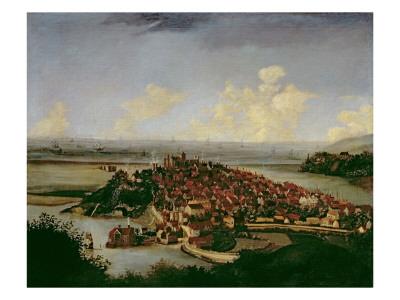 Extensive View of Rye Premium Giclee Print by Hendrick Danckerts