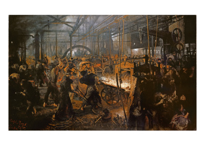 The Iron-Rolling Mill Premium Giclee Print by Adolph von Menzel