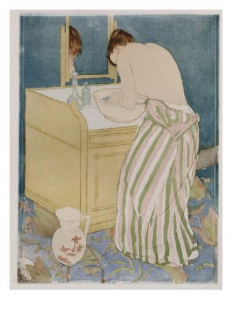Woman Bathing, 1890-91 Premium Giclee Print by Mary Cassatt