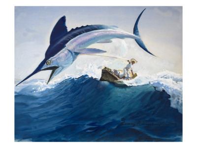 The Old Man and the Sea Premium Giclee Print by Harry G. Seabright