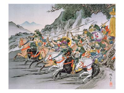 Battle of Shizugatake Pass 1583 Premium Giclee Print by  Japanese School