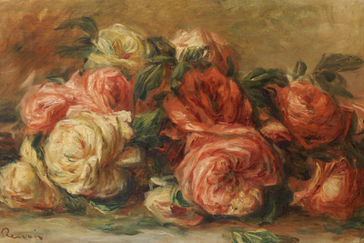 Discarded Roses Premium Giclee Print by Pierre-Auguste Renoir