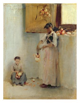 Stringing Onions, C.1882 Premium Giclee Print by John Singer Sargent